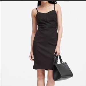 NWOT Banana Republic black fitted dress